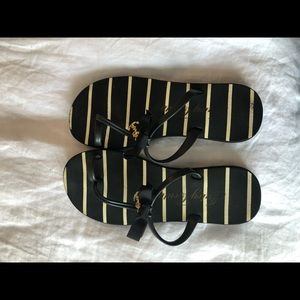 Juicy Couture Embellished Flip Flops